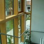 Abfallwirtschaftsbetrieb in Göppingen - Pfosten-Riegel-Fassade im Treppenhaus