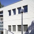 Klare Fassadenstruktur der Augenambulanz Universitätsklinik Ulm
