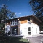 Gesamtansicht Eingangsbereich - Bürogebäude in Grünwald