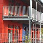 Stahlkonstruktion Balkon Kinderhaus Neuried