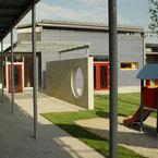 Mehrzweckhalle Kinderland Poing 2. BA mit Verbindung an den Bestand