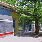 Eingang zum Mehrzweckraum der Kindertagesstätte Haar