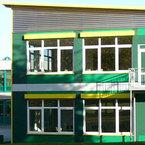 Hans-Leipelt-Schule in Donauwörth - farbliche Abstimmung an das Bestandsgebäude