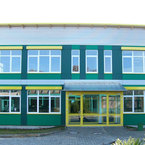 Eingang Hans-Leipelt-Schule in Donauwörth