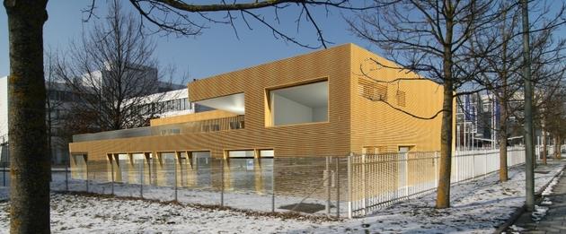 nachhaltiges holz hybrid geb ude f r die allianz deutschland ag in unterf hring s bu bau news. Black Bedroom Furniture Sets. Home Design Ideas