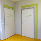 Kinderhaus in Herten- farblich abgesetzte Türen