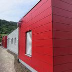 Kinderhaus in Herten-farbig abgesezte Plattenfassade