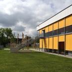 Kinderhaus in München - Aussenansicht Gartenseite