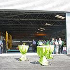 Eingangsbereich Produktionshalle