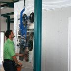 Fenstereinbau in vorgefertige Holztafelbauelemente
