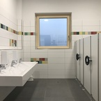 Kita Rosstal in Hybridbauweise - Kinder WC
