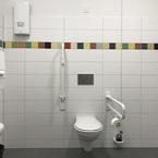 Kita Rosstal in Hybridbauweise - WC barrierefrei