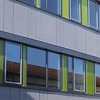 Gemeinschaftsschule Hüttlingen in Hybridbauweise - Fassade