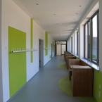 Gemeinschaftsschule Hüttlingen in Hybridbauweise - Lernflur