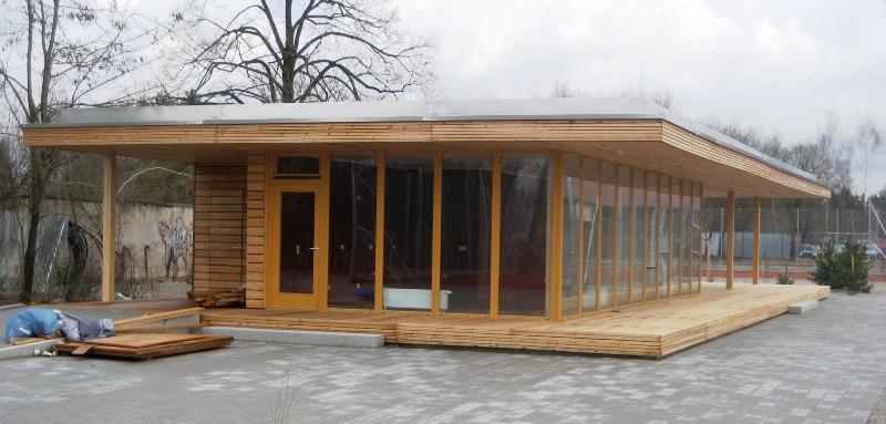 Moderner holzbau  Ökologischer Holzbau für die Abteilung Tennis des ESV Neuaubing ...