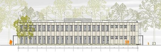 Schulpavillon als 3D-Holz-Modulbau in München